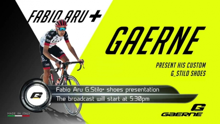 Fabio Aru - Gaerne shoes presentation
